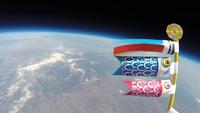 宇宙を舞う鯉のぼり スペースバルーンとともに漆黒の空を舞う 風船宇宙撮影