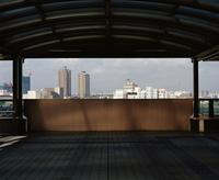 東京の風景 ゆりかもめの駅にて