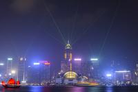 香港 夜景 ヴィクトリアハーバー シンフォニーオブライツ