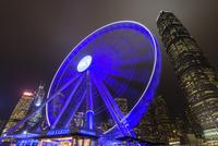 香港 夜景 香港摩天輪と国際金融中心