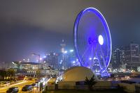 香港 夜景 香港摩天輪とセントラル