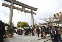生國魂神社 初詣の行列