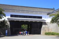 大阪城 多聞櫓と観光客