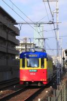阪堺電車 北畠停留場付近