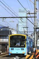 あべのハルカスと阪堺電車