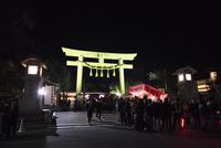 生国魂神社の初詣風景
