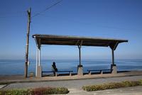 駅 下灘 瀬戸内海に面した駅