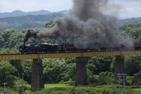 蒸気機関車 C57 一ノ戸川鉄橋