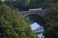 只見線  只見川の鉄橋