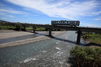 土佐くろしお鉄道 伊尾木川を渡る