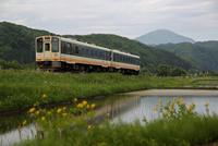 田植えの頃 会津鉄道