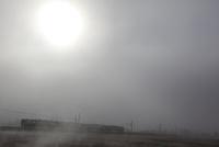霧の朝 奥羽本線
