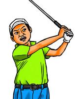 太ったゴルファー