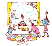 冬の家族 02795000005| 写真素材・ストックフォト・画像・イラスト素材|アマナイメージズ