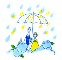 梅雨の二人