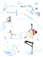 スケートする人たち 02795000009| 写真素材・ストックフォト・画像・イラスト素材|アマナイメージズ
