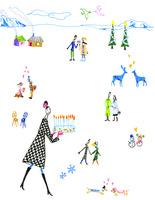 冬の人々 02795000025| 写真素材・ストックフォト・画像・イラスト素材|アマナイメージズ