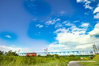 庄川を渡る万葉線1