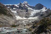 パイネ国立公園のフランス谷から望む、グランデ峰