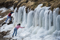 アンデス高原の氷瀑
