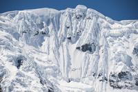 ワスカラン国立公園のワンツァン峰の氷壁