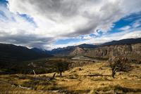 パタゴニアの草原と谷