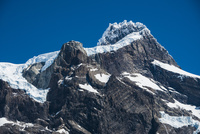 パタゴニア・パイネ国立公園のグランデ峰の山頂部