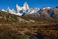パタゴニアの名峰フィッツロイの山麓 02798000462| 写真素材・ストックフォト・画像・イラスト素材|アマナイメージズ