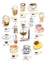喫茶店の飲み物を淹れる道具と器 02807000006| 写真素材・ストックフォト・画像・イラスト素材|アマナイメージズ