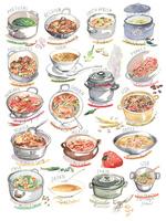 色々な国の料理とスープ