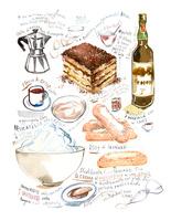 ティラミスのレシピと食材