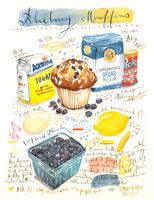 ブルーベリーマフィンのレシピと材料