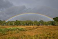 尾瀬の虹と竜宮小屋