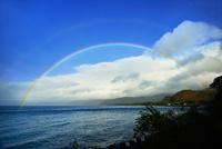 猪苗代湖の虹