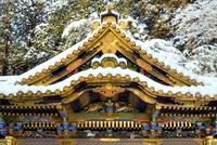 雪が積もった日光東照宮