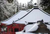 雪が積もった日光輪王寺