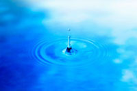 波紋と水滴