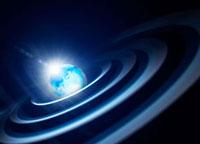 地球と光のリング