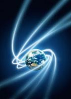 地球と光線