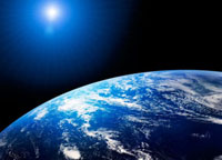 地球と太陽 07000000737| 写真素材・ストックフォト・画像・イラスト素材|アマナイメージズ