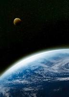 地球と月の宇宙イメージ 07000000944| 写真素材・ストックフォト・画像・イラスト素材|アマナイメージズ