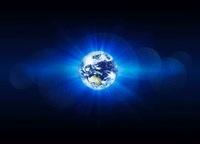 地球とデジタルイメージ