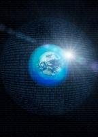 地球とデジタルの球体