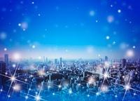 東京の街並とクリスマスイメージ