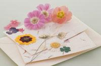 レターセットと花