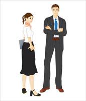 スーツを着た男女 07045000020| 写真素材・ストックフォト・画像・イラスト素材|アマナイメージズ