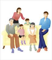 3世代ファミリー 07045000027| 写真素材・ストックフォト・画像・イラスト素材|アマナイメージズ