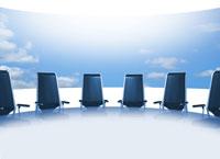 CGビジネスイメージ(会議室と空)