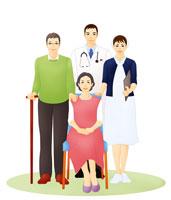老夫婦と医者と看護師