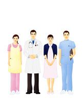 医者と看護師(イラスト) 07045000140| 写真素材・ストックフォト・画像・イラスト素材|アマナイメージズ
